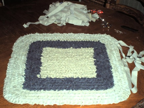 Square rag rug by Shaunna T.